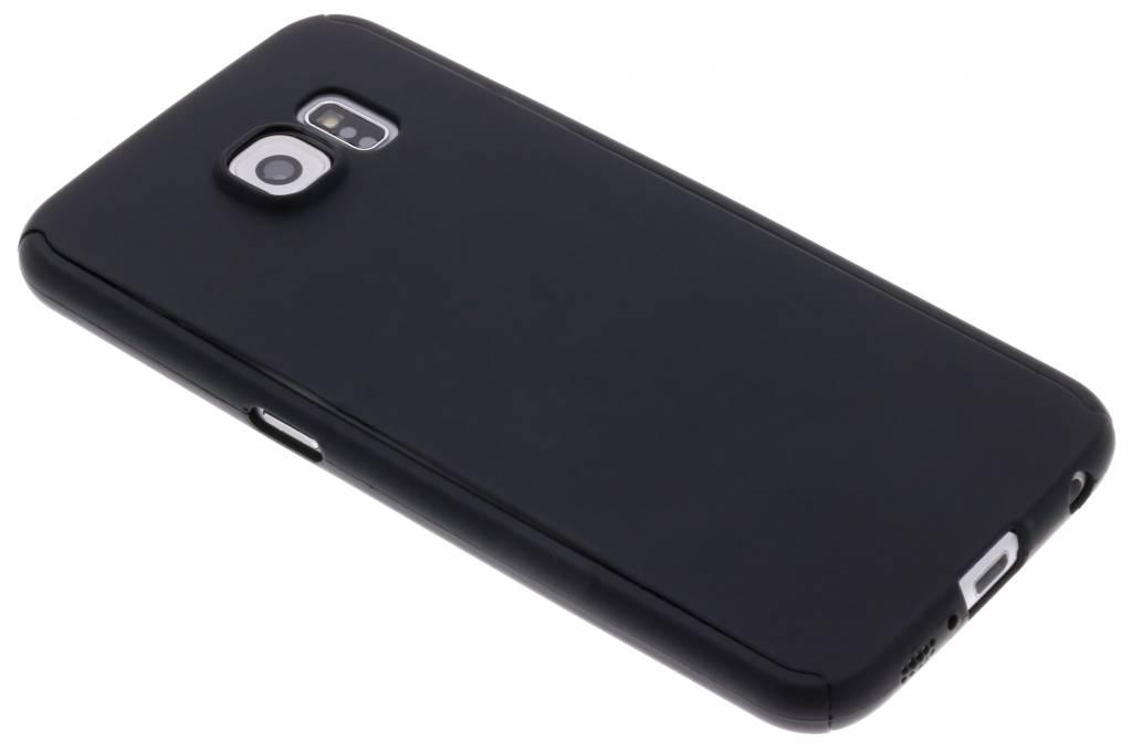 Zwarte 360° effen protect case voor de Samsung Galaxy S6