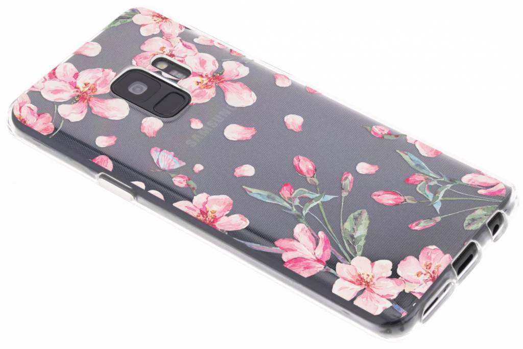 Bloesem Watercolor TPU hoesje voor de Samsung Galaxy S9