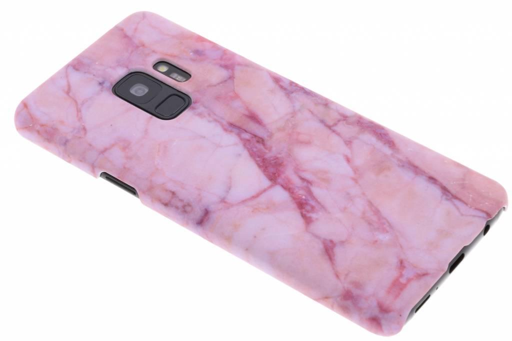 Roze marmer design hardcase hoesje voor de Samsung Galaxy S9
