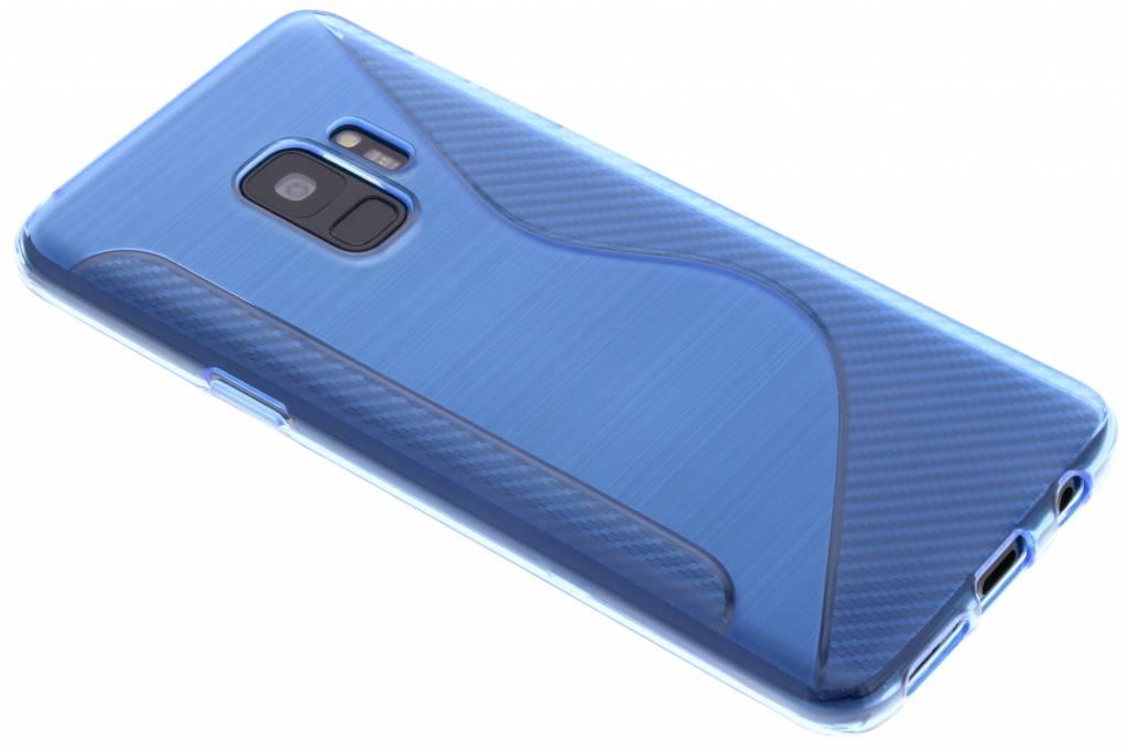 Blauw S-line TPU hoesje voor de Samsung Galaxy S9