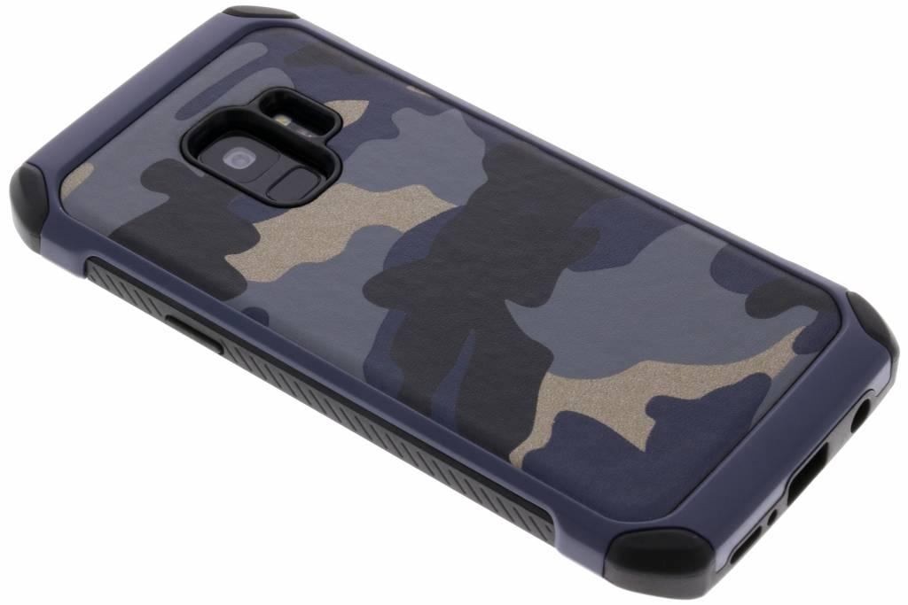 Blauw army defender hardcase hoesje voor de Samsung Galaxy S9