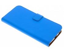 Selencia Blauw Luxe TPU Book Case Motorola Moto G6 Plus