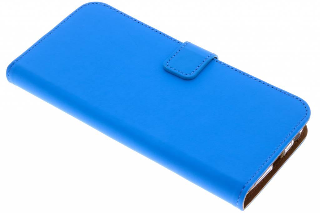 Selencia Blauwe Luxe TPU Book Case voor de Motorola Moto G6 Plus