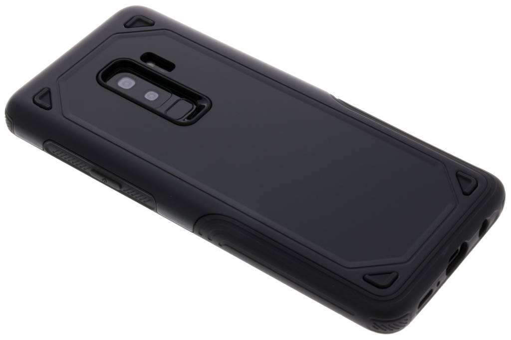 Zwart rugged hardcase hoesje voor de Samsung Galaxy S9 Plus