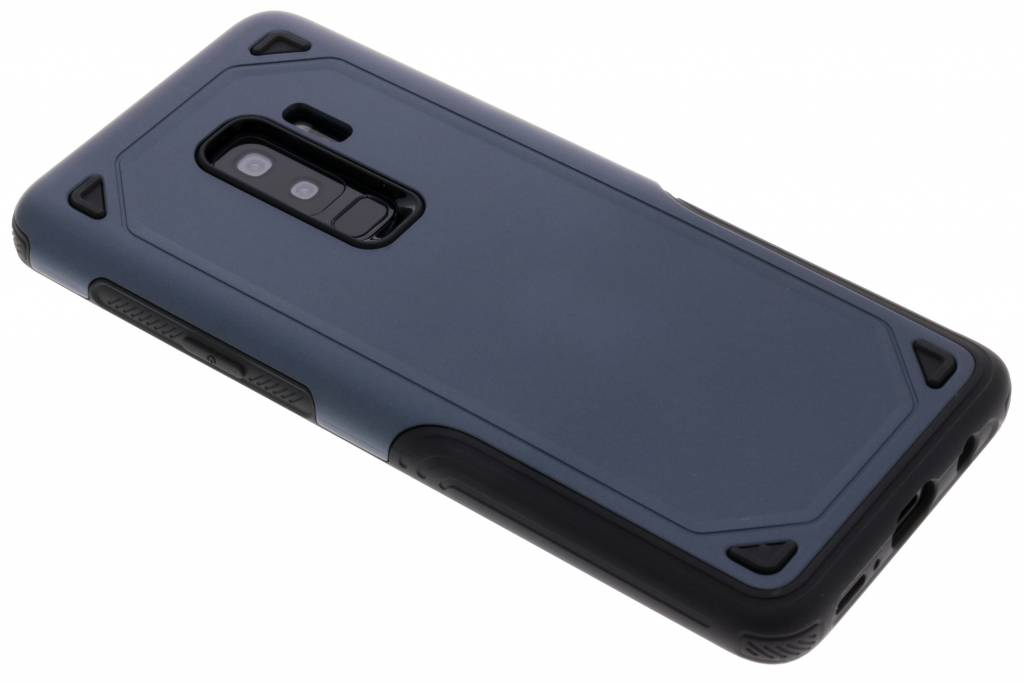 Blauw rugged hardcase hoesje voor de Samsung Galaxy S9 Plus