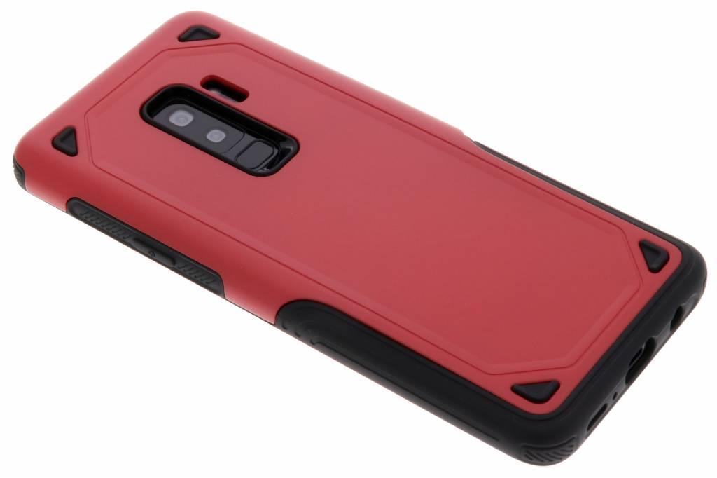 Rood rugged hardcase hoesje voor de Samsung Galaxy S9 Plus
