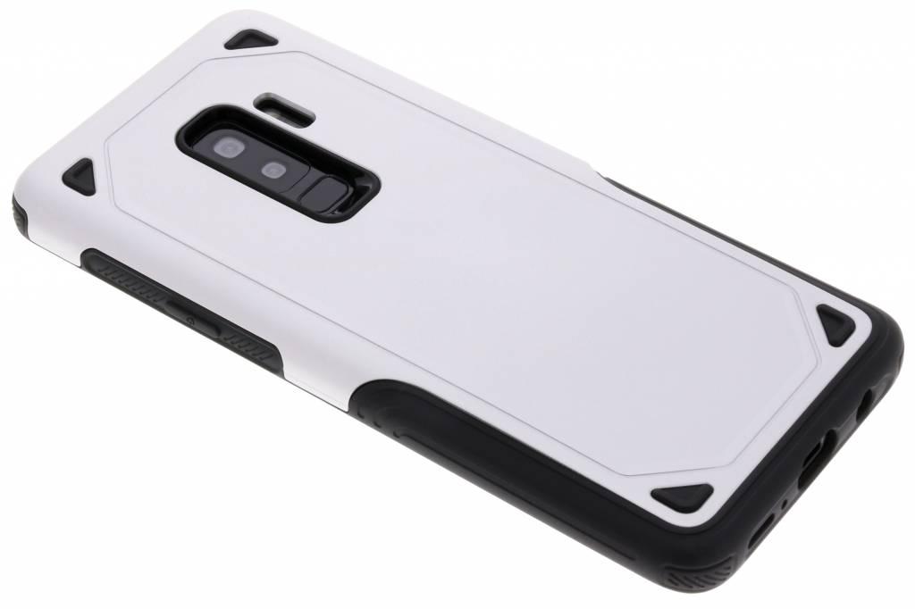 Zilver rugged hardcase hoesje voor de Samsung Galaxy S9 Plus