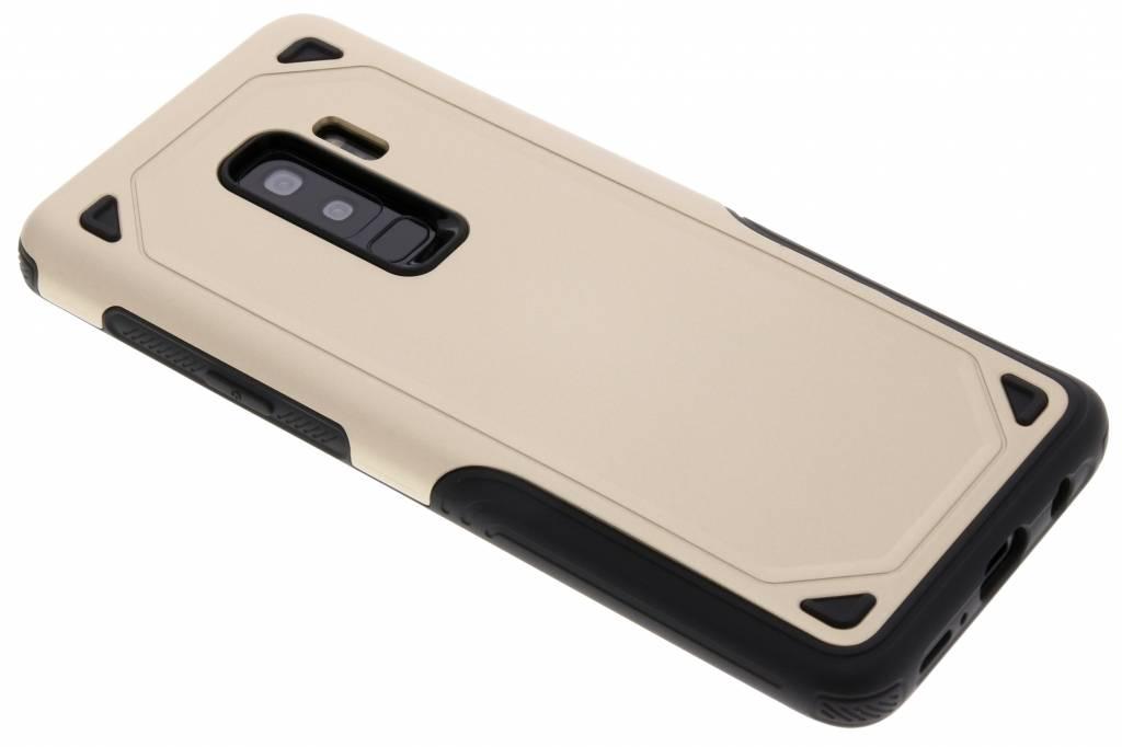 Goud rugged hardcase hoesje voor de Samsung Galaxy S9 Plus