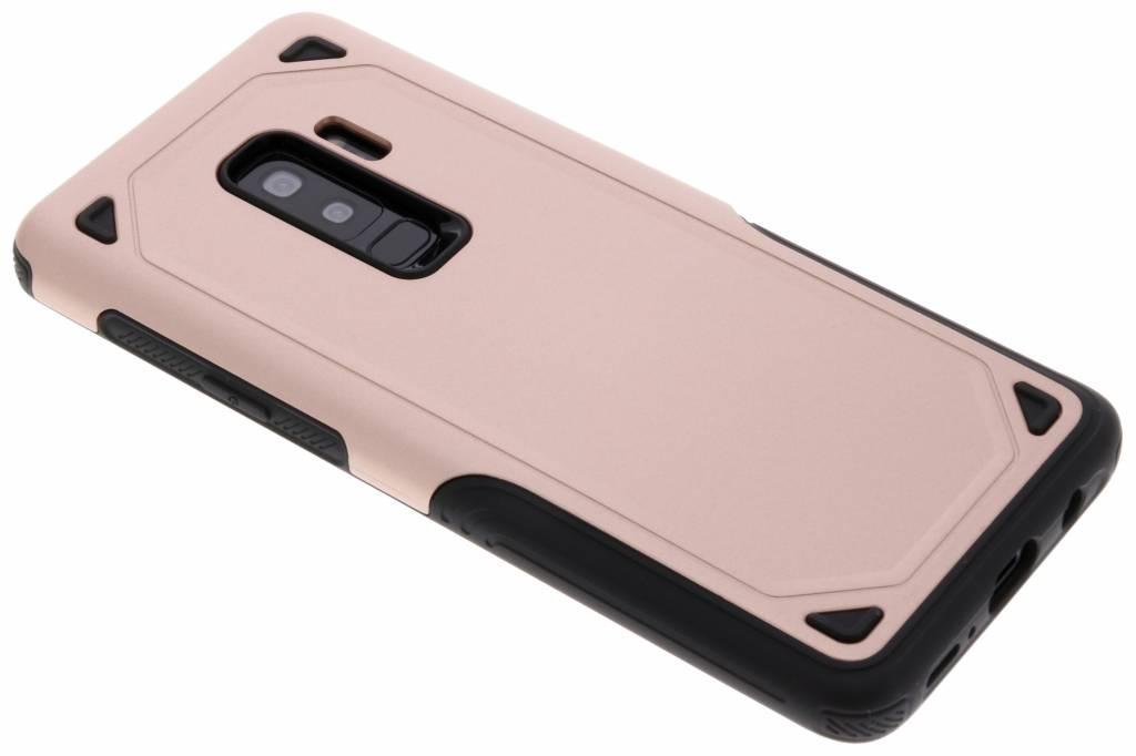 Rosé Goud rugged hardcase hoesje voor de Samsung Galaxy S9 Plus