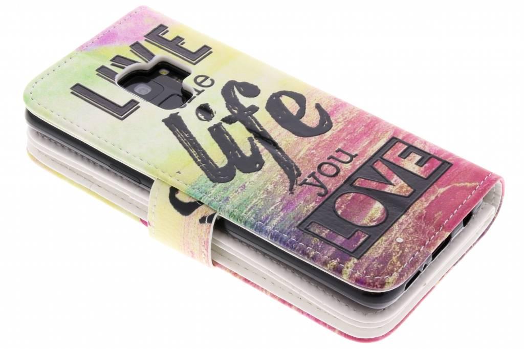 Vivre La Conception Vie Portefeuille Tpu Pour Samsung Galaxy S9 hWVWQbnu