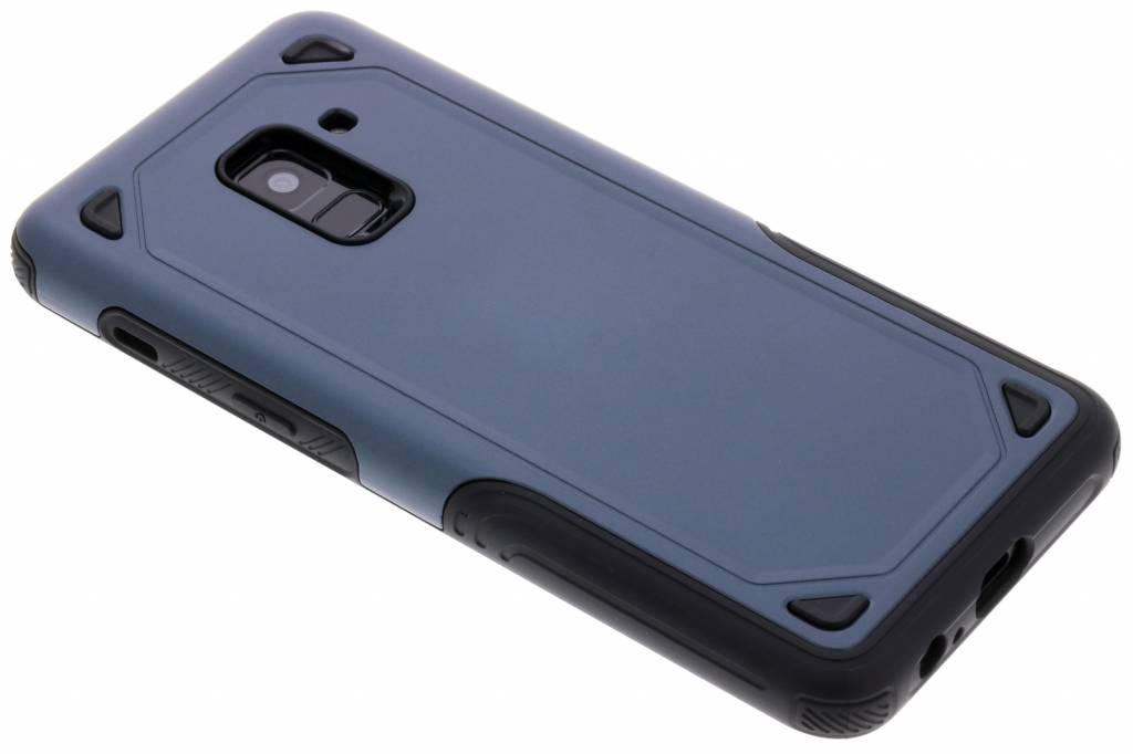 Blauw Rugged hardcase hoesje voor de Samsung Galaxy A8 (2018)
