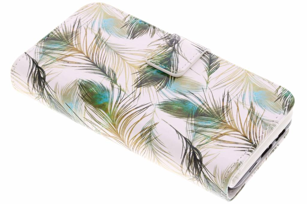 Feathers design TPU portemonnee voor de Samsung Galaxy A8 (2018)