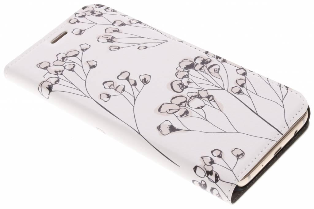 Bloemen Design Booklet voor de Samsung Galaxy J7 (2017)