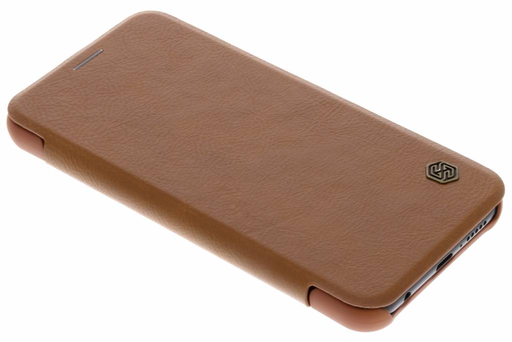 Nillkin Bruine Qin Leather slim booktype voor de Huawei P20 Lite