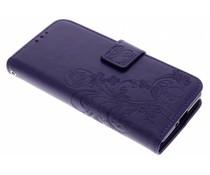 Klavertje bloemen booktype hoes Sony Xperia XZ2 Compact
