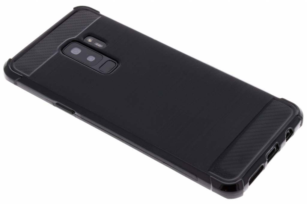 Zwart Xtreme siliconen hoesje voor de Samsung Galaxy S9 Plus