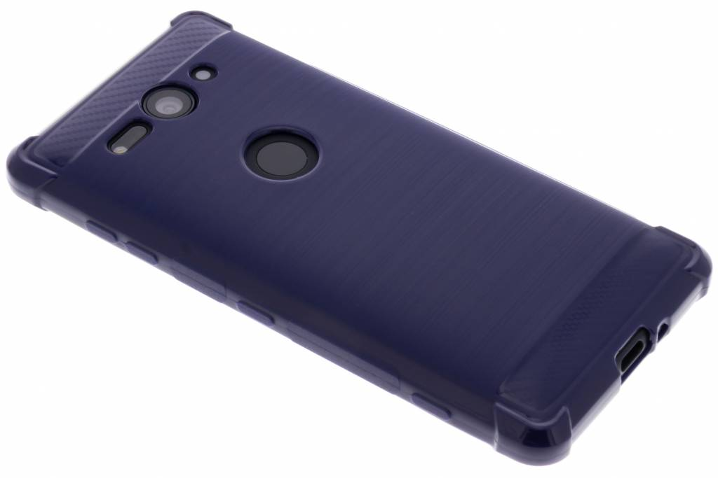 Blauw Xtreme siliconen hoesje voor de Sony Xperia XZ2 Compact