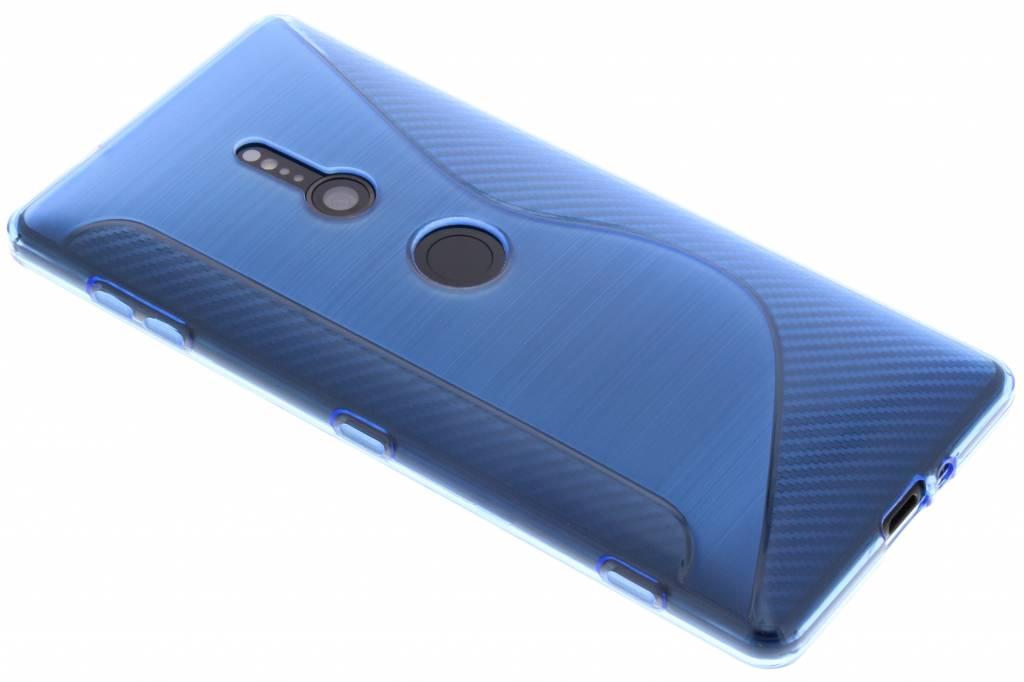 Blauw S-line TPU hoesje voor de Sony Xperia XZ2