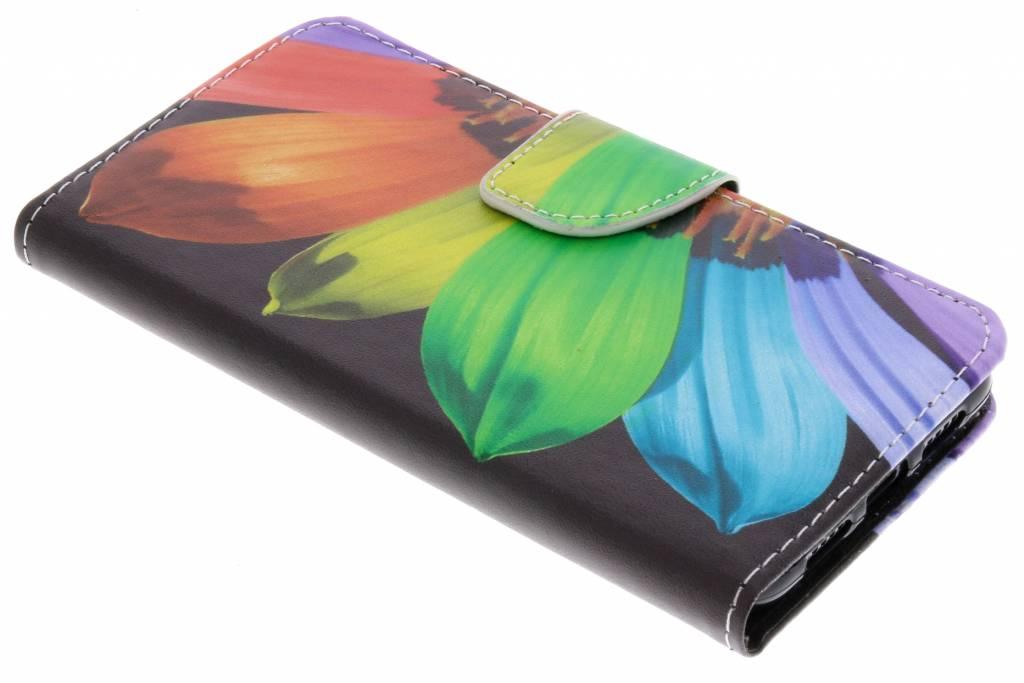 Regenboog design TPU booktype hoes voor de Huawei P20