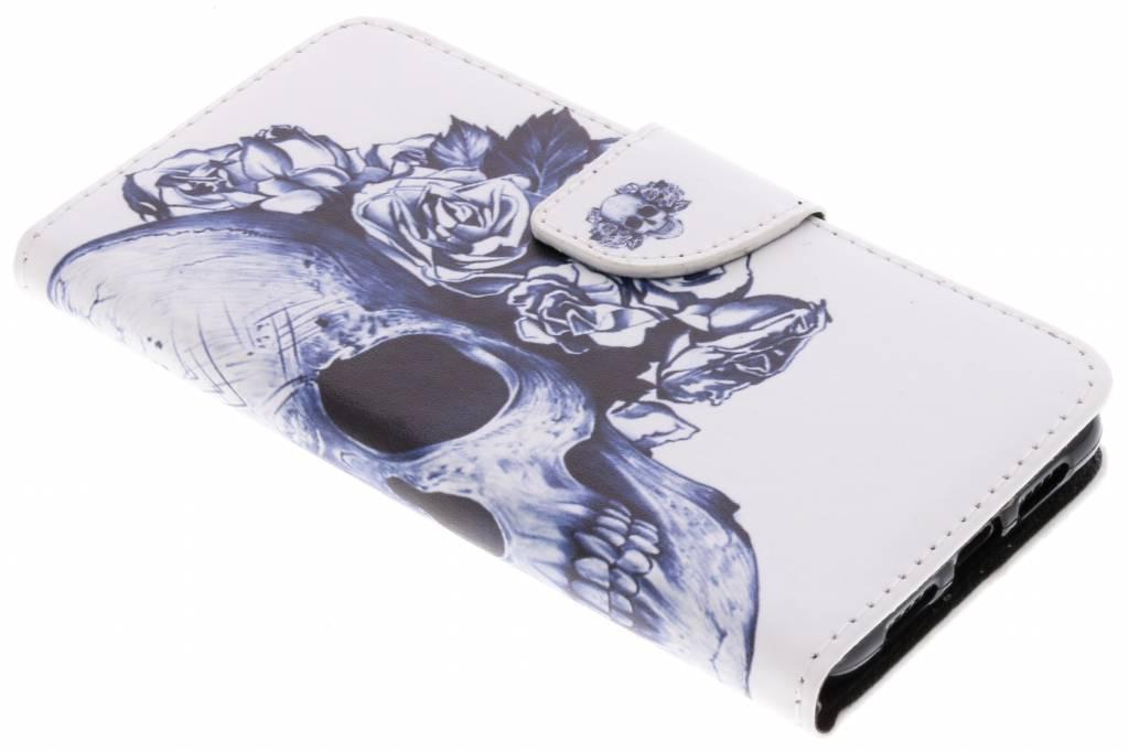 Doodshoofd design TPU booktype hoes voor de Huawei P20