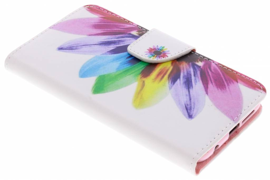 Regenboog design TPU booktype hoes voor de Huawei P20 Lite