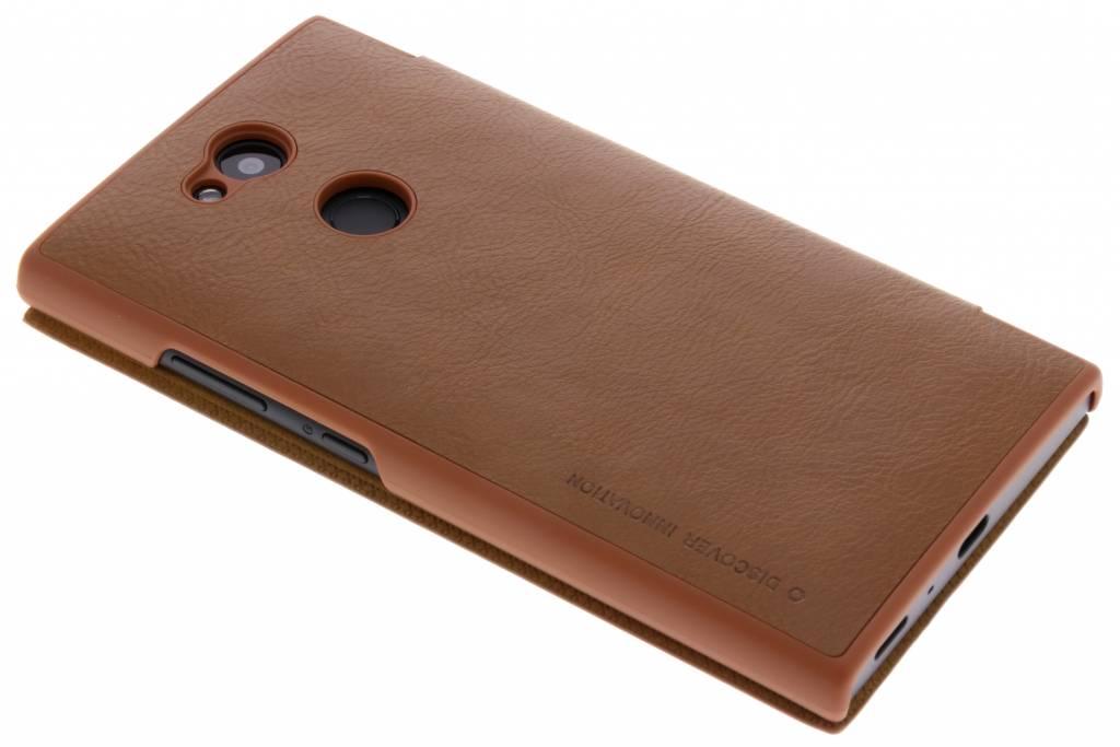 Qin Smart Type De Livre En Cuir Pour Bord Samsung Galaxy S - Brun Gang9