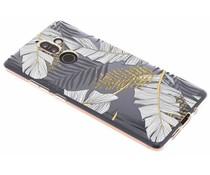 Botanic design siliconen hoesje Nokia 7 Plus