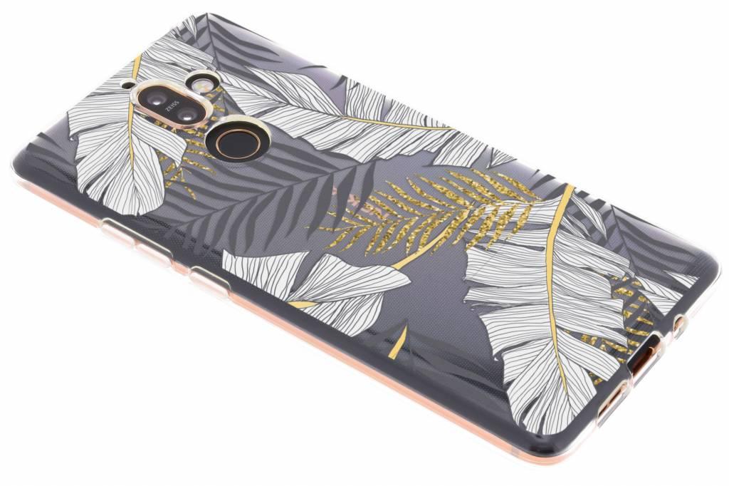 Botanic design siliconen hoesje voor de Nokia 7 Plus