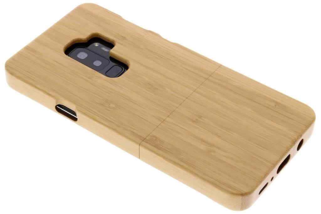 Lichtbruin echt houten hardcase hoesje voor de Samsung Galaxy S9 Plus
