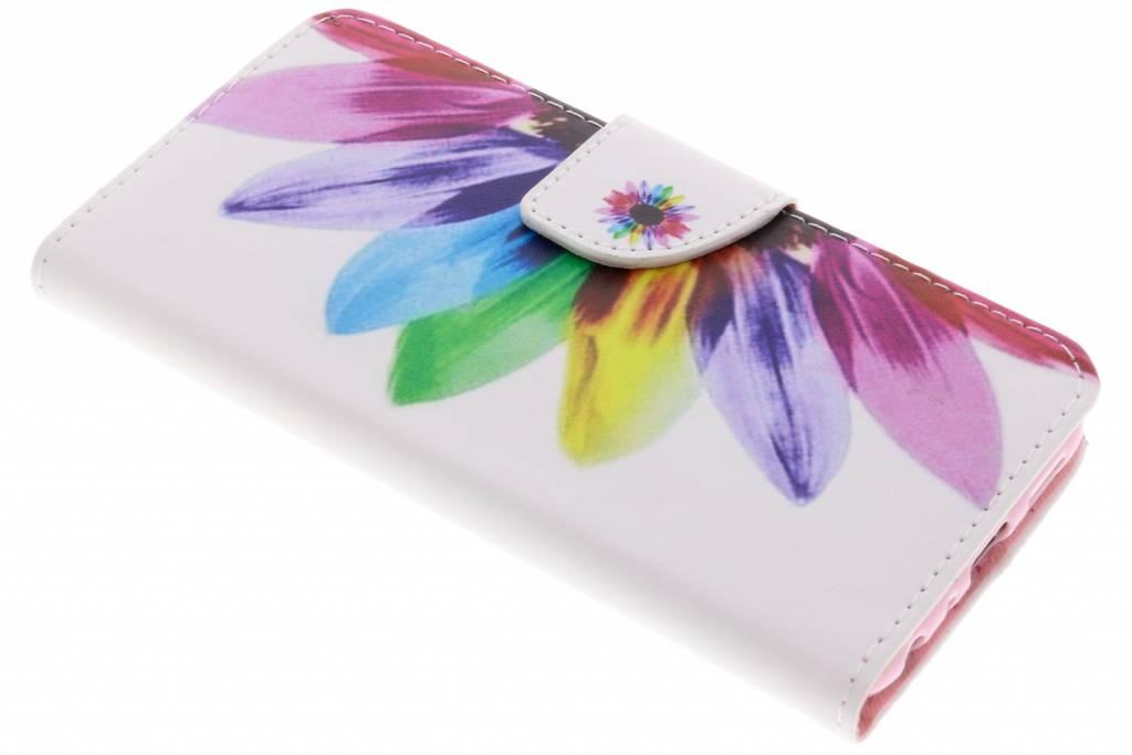 Regenboog design TPU booktype hoes voor de Huawei P Smart