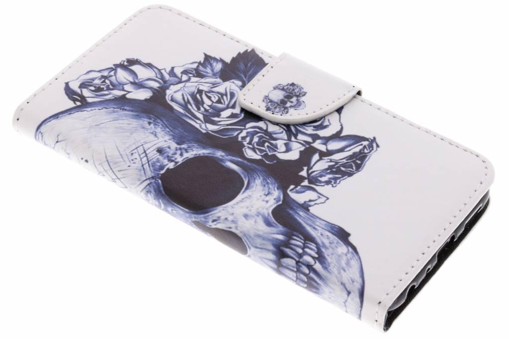Doodshoofd design TPU booktype hoes voor de Huawei P Smart