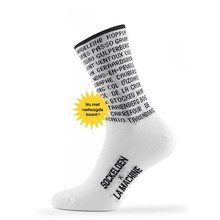 Cycling Socks Les Monuments White