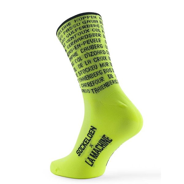 Cycling Socks Les Monuments Fluor Yellow - Copy