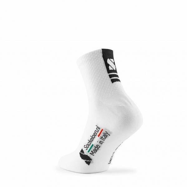 Cycling Socks White-Black - Low