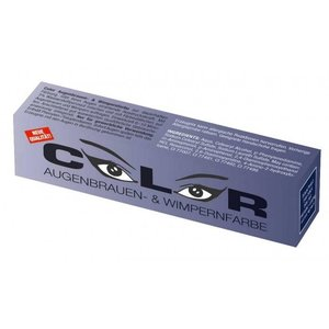 Comair Color Color eyelash and eyebrow paint Blue Black