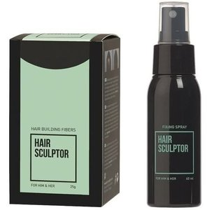HAIR SCULPTOR Fibers Black + Hair Sculptor Fixing Spray