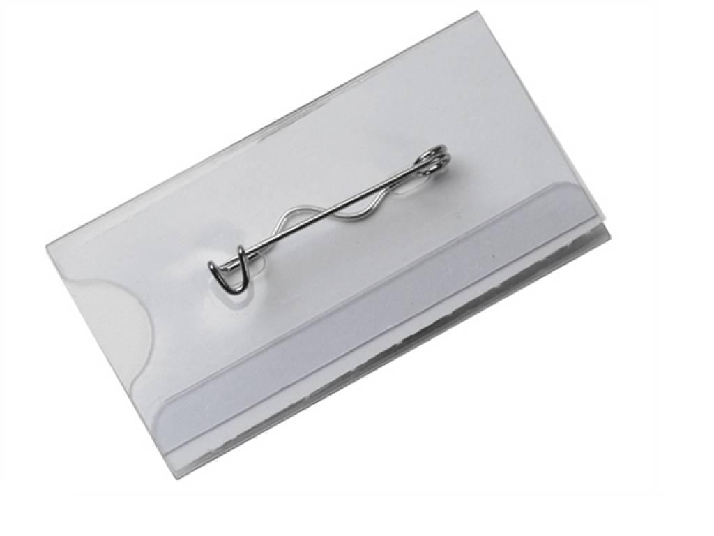Portes badges de 90 x 50 mm pingle reliure plastification for Porte badge 60 x 90