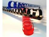 Albyco - Anneaux plastiques 8 mm (jusqu'à 45 feuilles), 20 boucles, rond