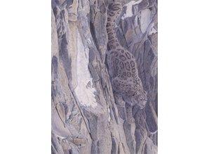 Snowleopard Downhill (60 x 90 cm)