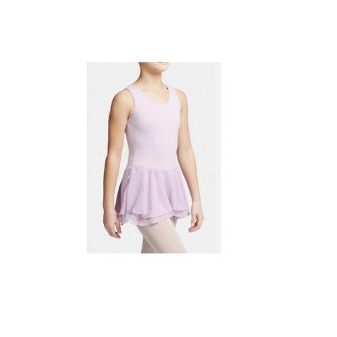 CC877C Double Layer Skirt Tank Dress