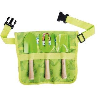 Esschert Design Kinderschort met tuingereedschap - groen
