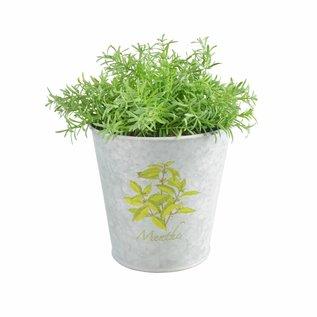 Esschert Design Botanicae - Bloempotje - oud zink