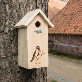 Esschert Design Nestkast Koolmees - Silhouet - hout