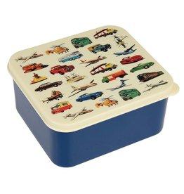 Rex London Lunchtrommel - Vintage Transport - blauw