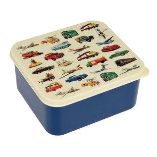 Dotcomgiftshop Lunchtrommel - Vintage Transport - blauw