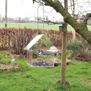 Esschert Design Acryl hangende voedertafel - Huis