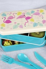 Rex London Bento Lunchbox XL - Flamingo Bay