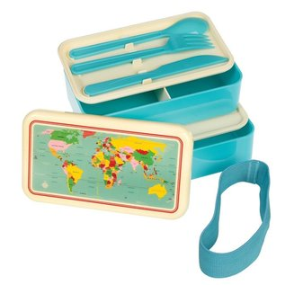 Dotcomgiftshop Bento Lunchbox XL - Wereldkaart