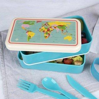 Rex London Bento Lunchbox XL - Wereldkaart