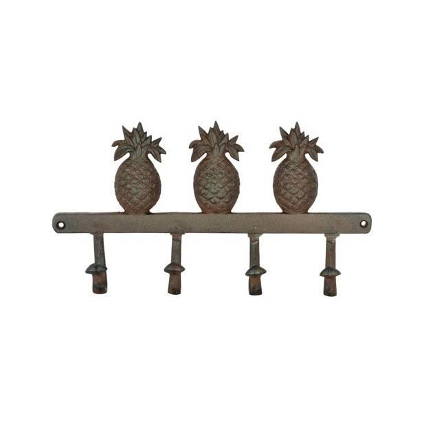 ananas kapstok met 4 haken outside wishes. Black Bedroom Furniture Sets. Home Design Ideas